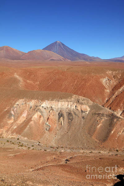 Photograph - Colourful Canyon And Licancabur Volcano Chile by James Brunker