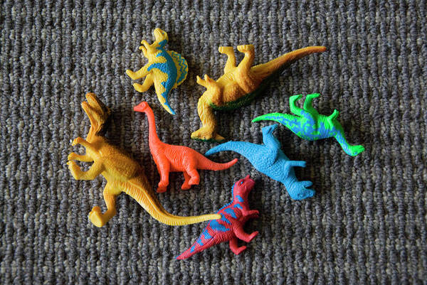 Era Photograph - Colourful Dinosaurs by Susie Adams
