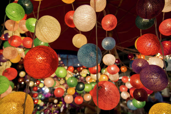 Chiang Mai Province Photograph - Colourful Fairy Lights Sold At Chiang by Viviane Ponti