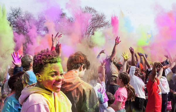 Photograph - Colourful Holi Day by Theresa Tahara