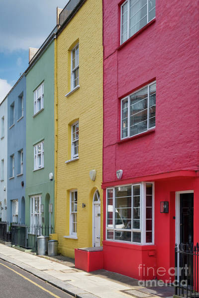 Photograph - Colourful Houses Godfrey Street Chelsea by Tim Gainey
