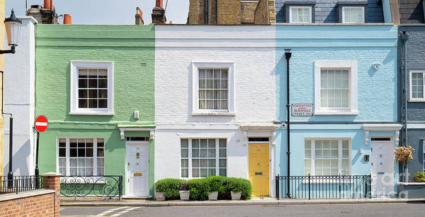 Wall Art - Photograph - Colourful London Houses by Tim Gainey