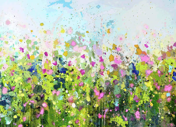 Painting - Colourful Meadow 41 by Tracy-Ann Marrison