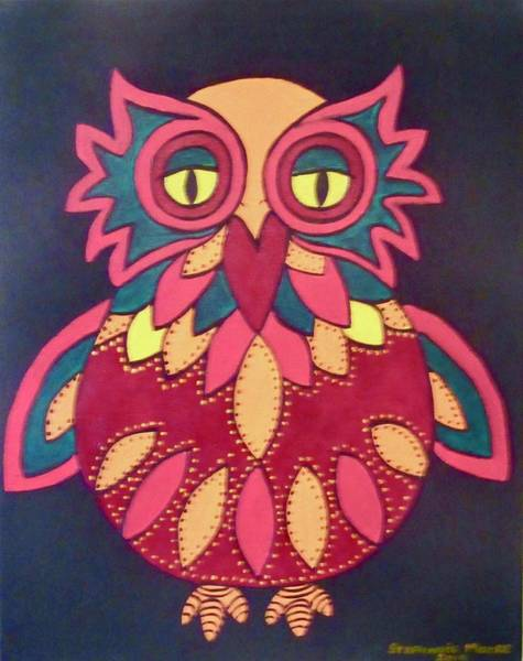 Painting - Colourful Owl by Stephanie Moore