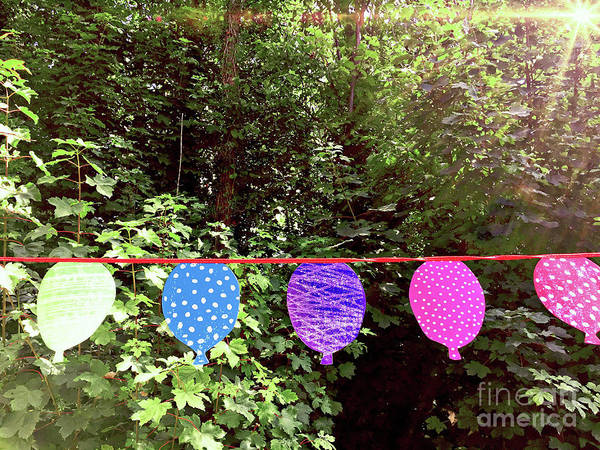 Wall Art - Photograph - Colourful Paper Bunting by Tom Gowanlock