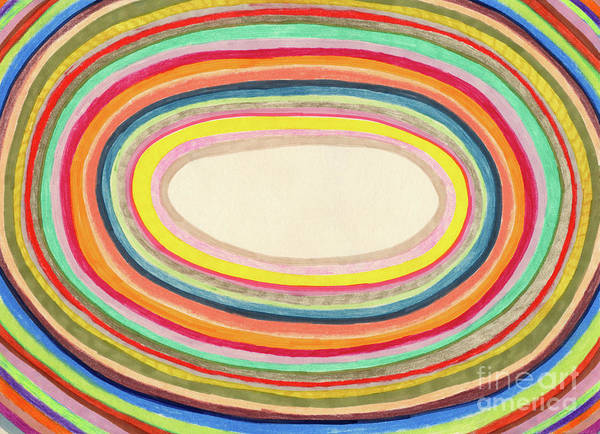 Pencil Drawing Digital Art - Colourful Rainbow Circles Background by Beastfromeast