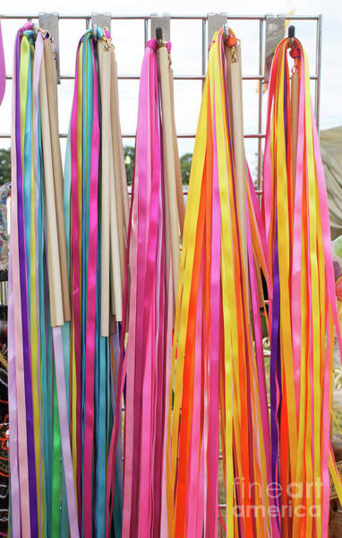 Wall Art - Photograph - Colourful Ribbon Background  by Tom Gowanlock