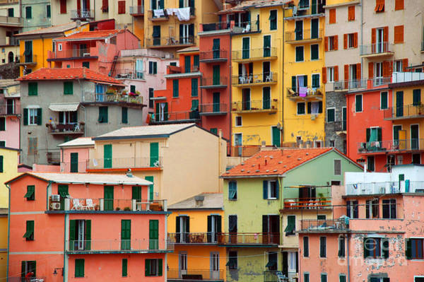 Cliffs Wall Art - Photograph - Colourful Texture Of Manarola City Of by Blaz Kure