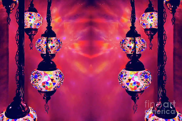 Wall Art - Photograph - Colourful Turkish Lamps by Tom Gowanlock