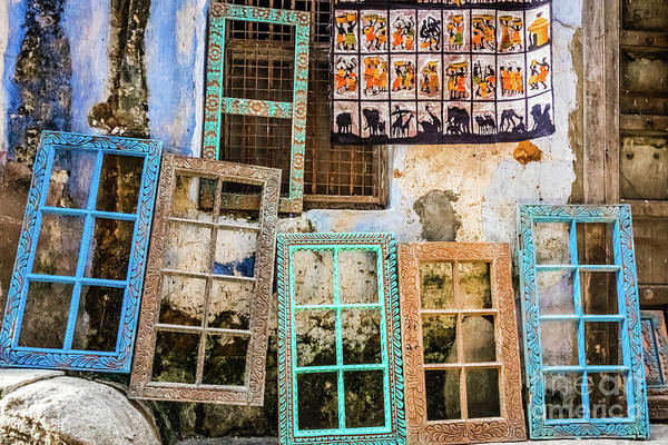 Photograph - Colorful Window Frames by Lyl Dil Creations