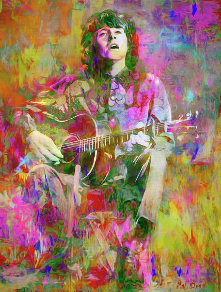 Folk Singer Mixed Media - Colours, Donovan by Mal Bray