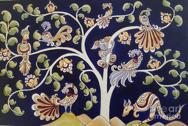 Kalamkari Painting - Colours Of Culture by Sadhana Desai