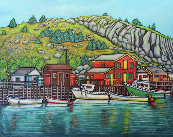 Painting - Colours Of Quidi Vidi, Newfoundland by Lisa Lorenz