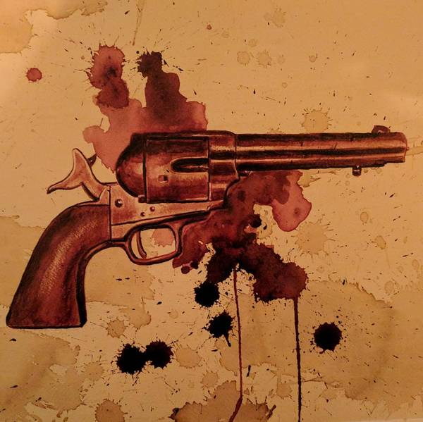 Serial Killer Painting - Colt 45 by Ryan Almighty