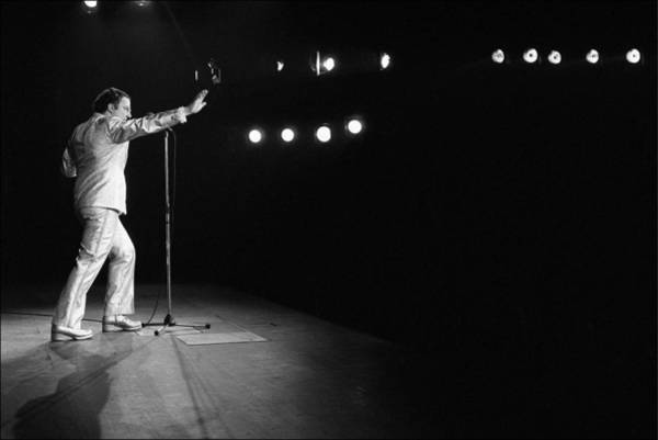Photograph - Coluche Performance At The Olympia In by Daniel Simon