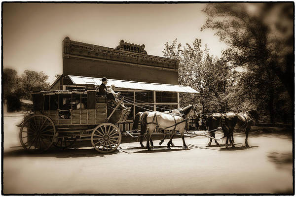Wall Art - Photograph - Columbia Stagecoach Ride by Marnie Patchett