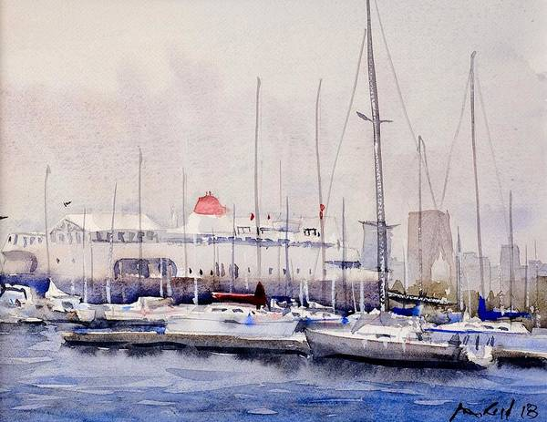 Wall Art - Painting - Columbia Yacht Club by Max Good