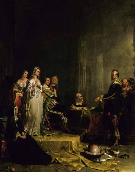Wall Art - Painting - Columbus Before The Queen, 1841 by Peter Frederick Rothermel