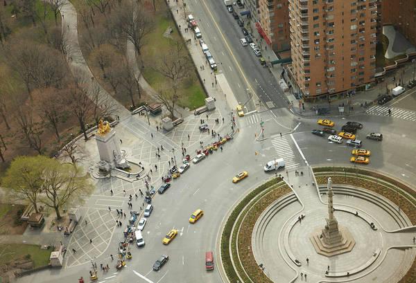 Aerial View Photograph - Columbus Circle And Cenral Park by Andy Ryan