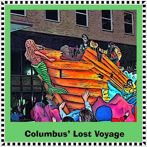 Shipwreck Digital Art - Columbus' Lost Voyage by Marian Bell
