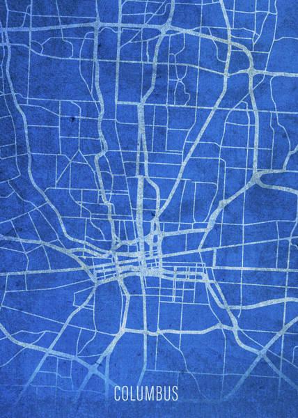 Wall Art - Mixed Media - Columbus Ohio City Street Map Blueprints by Design Turnpike