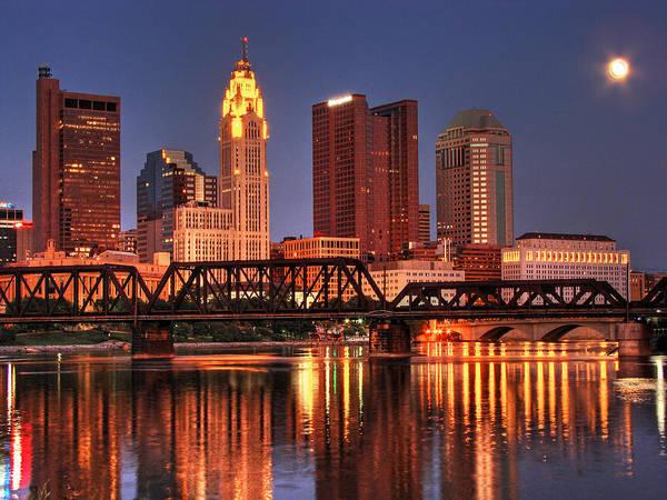Ohio Photograph - Columbus Ohio Skyline by Copyright Matt Kazmierski