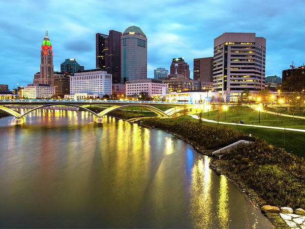 Wall Art - Photograph - Columbus Skyline Colors And Cityscape by Gregory Ballos