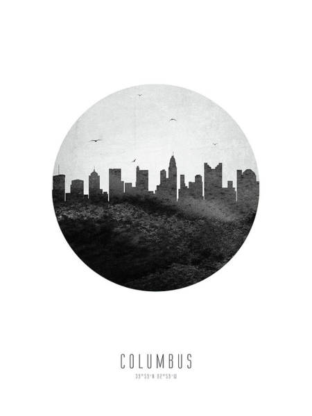 Wall Art - Digital Art - Columbus Skyline Usohco24 by Aged Pixel