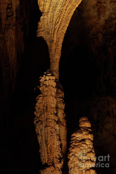 Cavern Photograph - Column Of Nature by Mike Dawson