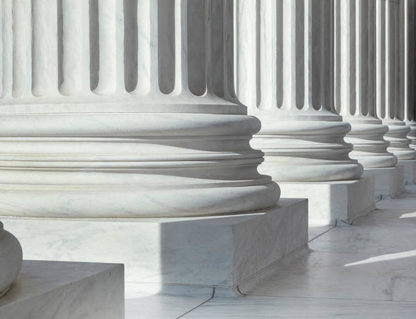Court Photograph - Column Outside U.s. Supreme Court by Drnadig