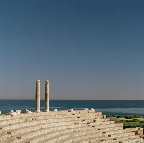 Ancient Photograph - Columns At An Amphitheatre In The by Cultura Exclusive/philip Lee Harvey
