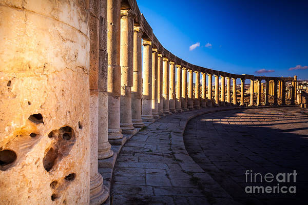 Ancient Architecture Photograph - Columns  In Ancient Ruins In The by Barnuti Daniel Ioan
