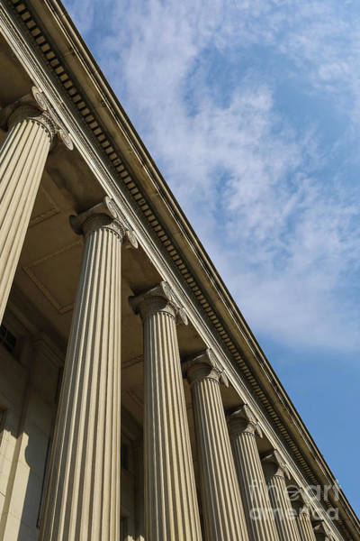 Photograph - Columns Treasury Department Washington Dc by Edward Fielding