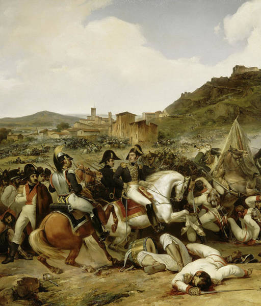 Wall Art - Painting - Combat De Castalla by Jean-Charles Langlois