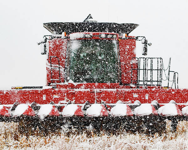 Photograph - Combine In Snow 01 by Rob Graham