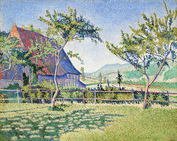 Wall Art - Painting - Comblat-le-chateau, The Meadow - Digital Remastered Edition by Paul Signac