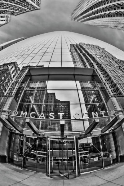 Wall Art - Photograph - Comcast Center Philadelphia Bw by Susan Candelario