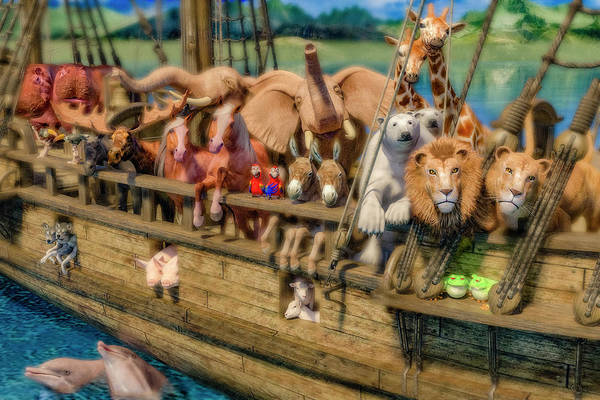 Parrot Digital Art - Come Aboard There's Plenty Of Room Ark by Betsy Knapp
