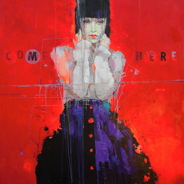 Wall Art - Painting - Come Here by Viktor Sheleg
