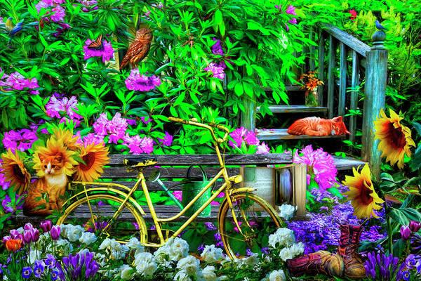 Digital Art - Come Play In The Garden by Debra and Dave Vanderlaan