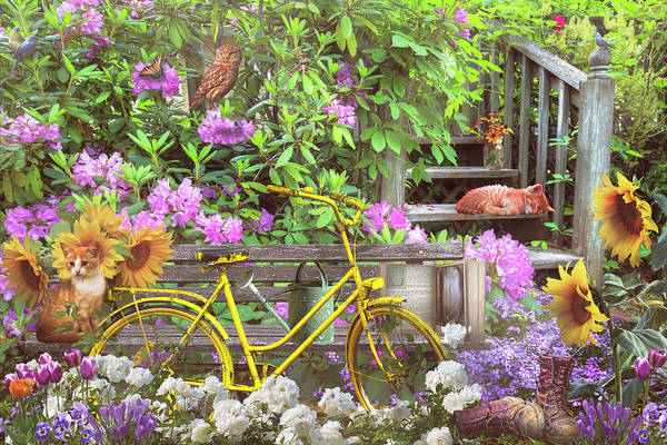 Wall Art - Photograph - Come Play In The Pretty Garden by Debra and Dave Vanderlaan
