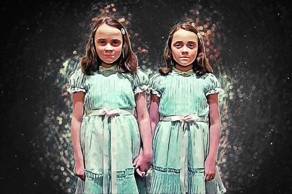 Wall Art - Digital Art - Come Play With Us - The Shining Twins by Zapista Zapista