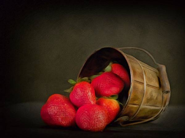 Digital Art - Come Share My Ripe Strawberries Red  by Isabella Howard