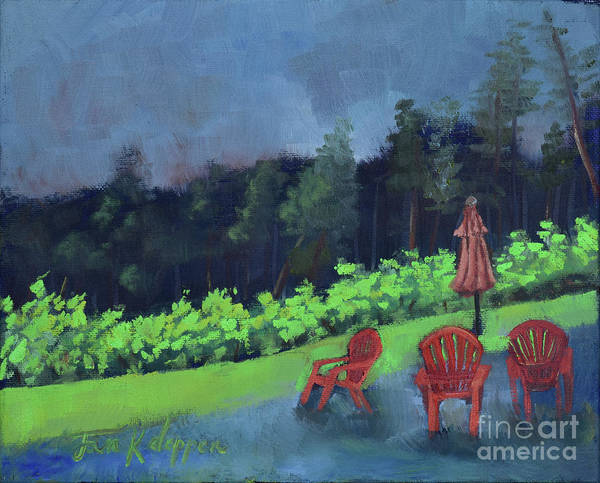 Painting - Come Sit By Me For Awhile-ott Farms And Vineyard by Jan Dappen