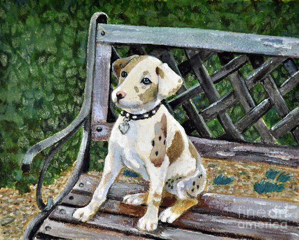 Park Bench Mixed Media - Come Sit With Me by Lori Moon