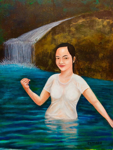 Painting - Come Take A Dip by Cyril Maza