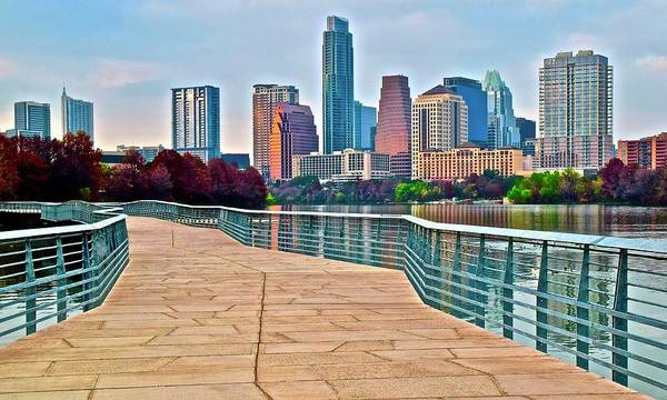 Townscape Wall Art - Photograph - Come To Austin Texas by Frozen in Time Fine Art Photography