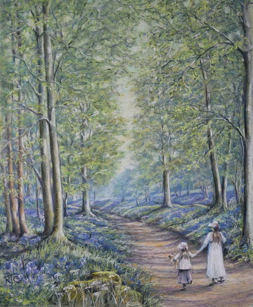 Wall Art - Painting - Come Walk With Me by Rosemary Colyer