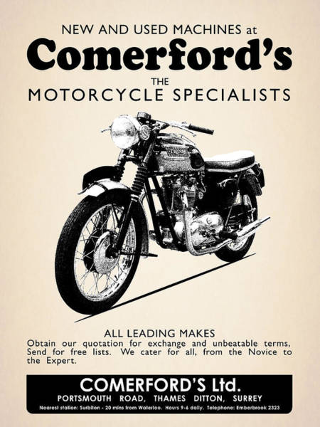 Wall Art - Photograph - Comerfords Vintage Advert by Mark Rogan