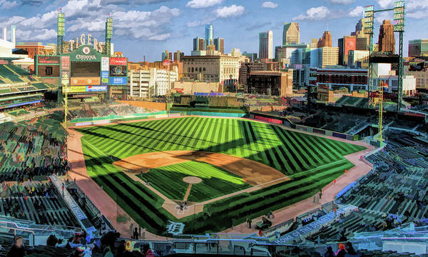 Painting - Comerica Park Detroit Tigers Baseball Ballpark Stadium by Christopher Arndt